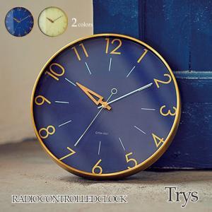 壁掛け電波時計 ウォールクロック Trys トゥリス cl-3849|shop-askm