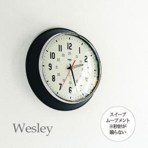 壁掛け時計 ウォールクロック  Wesley ウェズリー スイープ 音が鳴らない cl-3933|shop-askm