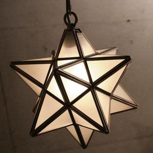 照明器具 アンティーク ガラス ペンダントライト クリア フロスト 星 1灯 Etoile エトワール|shop-askm