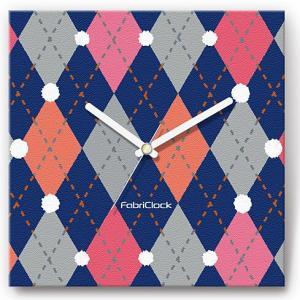 壁掛け時計 セーター ファブリクロック ファブリック ウォールクロック 掛時計 壁時計 かけ時計 スイープ とけい アーガイル|shop-askm