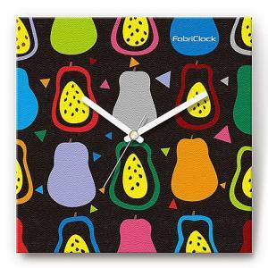 壁掛け時計 ラフランス ファブリクロック ファブリック ウォールクロック 掛時計 壁時計 かけ時計 スイープ とけい 洋梨 フルーツ くだもの|shop-askm