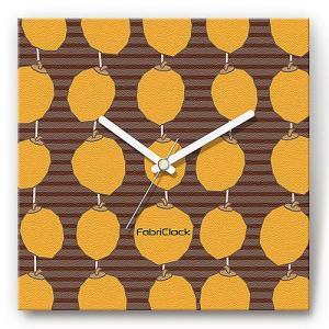 壁掛け時計 干し柿 ファブリクロック ファブリック ウォールクロック 掛時計 壁時計 かけ時計 スイープ とけい くだもの フルーツ|shop-askm