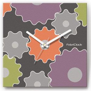 壁掛け時計 歯車 ファブリクロック ファブリック ウォールクロック 掛時計 壁時計 かけ時計 スイープ とけい 部品|shop-askm