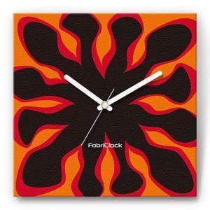 壁掛け時計 ファイヤー ファブリクロック ファブリック ウォールクロック 掛時計 壁時計 かけ時計 スイープ とけい 炎|shop-askm