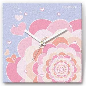壁掛け時計 ハートダリア ファブリクロック ファブリック ウォールクロック 掛時計 壁時計 かけ時計 スイープ とけい|shop-askm