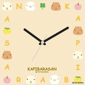 壁掛け時計 アートクロック シンプル ウォールクロック プレゼント スイープ カピバラさんアルファベット|shop-askm