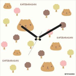 壁掛け時計 アートクロック シンプル ウォールクロック プレゼント スイープ カピバラさん木|shop-askm