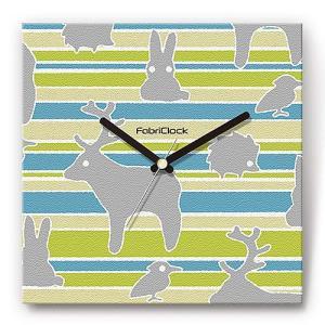 壁掛け時計 動物園 ファブリクロック ファブリック ウォールクロック 掛時計 壁時計 かけ時計 スイープ とけい ZOO|shop-askm
