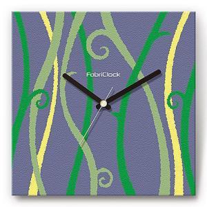 壁掛け時計 しだ ファブリクロック ファブリック ウォールクロック 掛時計 壁時計 かけ時計 スイープ とけい 植物|shop-askm