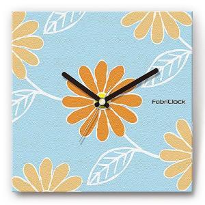 壁掛け時計 ファブリックロック シンプル ウォールクロック プレゼント スイープ マーガレット 花 shop-askm