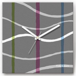 壁掛け時計 タイムライン ファブリクロック ファブリック ウォールクロック 掛時計 壁時計 かけ時計 スイープ とけい 曲線 グレー|shop-askm