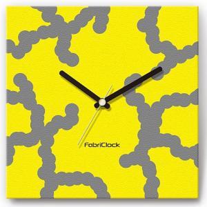 壁掛け時計 DNA ファブリクロック ファブリック ウォールクロック 掛時計 壁時計 かけ時計 スイープ とけい イエロー 黄色|shop-askm