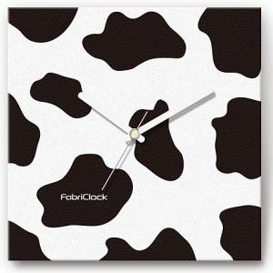 壁掛け時計ファブリックロック/うし柄|shop-askm