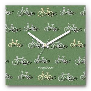 壁掛け時計ファブリックロック/自転車|shop-askm
