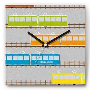 壁掛け時計 電車 ファブリクロック ファブリック ウォールクロック 掛時計 壁時計 かけ時計 スイープ とけい 乗り物|shop-askm