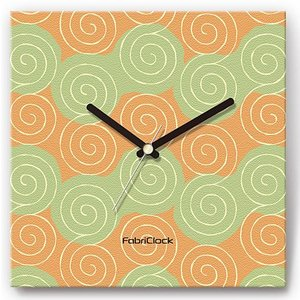 壁掛け時計 ファブリックロック シンプル ウォールクロック プレゼント スイープ うずまき shop-askm