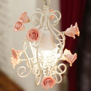 照明器具 ペンダントライト 1灯 アンティーク シャンデリア バラ PINKROSE ピンクローズ of-010/1|shop-askm