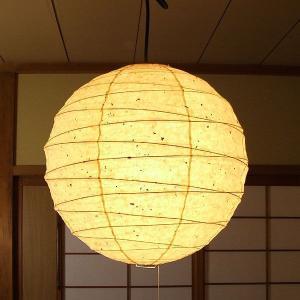 黒皮入りの楮紙を使用した趣ある提灯(ちょうちん)型ペンダントランプ。 和紙漉き工程の中で、楮入り和紙...