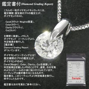 ダイヤモンド ネックレス プラチナ 一粒 ダイヤネックレス 鑑定書付 Hカラー 0.3カラット 一粒 ダイヤモンド ネックレス|shop-avanty|02