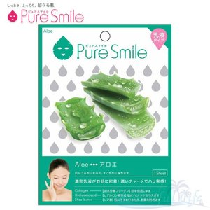 Pure Smile エッセンスマスク 乳液タイプ Aloe/アロエ 【ピュアスマイル 乳液フェイスマスク 1枚】|shop-beautiful-life