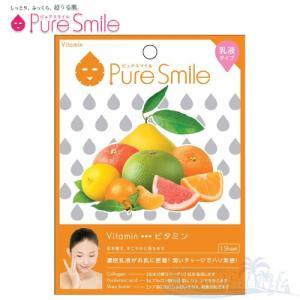 Pure Smile エッセンスマスク 乳液タイプ Vitamin/ビタミン 【ピュアスマイル 乳液フェイスマスク 1枚】|shop-beautiful-life