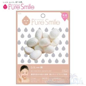 Pure Smile エッセンスマスク 乳液タイプ Silk/シルク(絹) 【ピュアスマイル 乳液フェイスマスク 1枚】|shop-beautiful-life