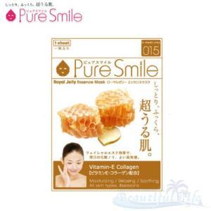 Pure Smile エッセンスマスク ローヤルゼリー 化粧水タイプ 【ピュアスマイル フェイスマスク 1枚】|shop-beautiful-life