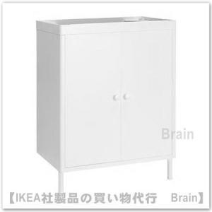 ■カラー:ホワイト  ■商品の大きさ 洗面キャビネットの幅: 58 cm 奥行き: 39 cm 高さ...
