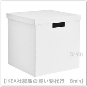 IKEA/イケア TJENA 収納ボックス ふた付き30x30x30 cm ホワイト