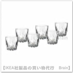 IKEA/イケア SMAKMASSIG グラス8 cm 6個セット 模様入り|shop-brain
