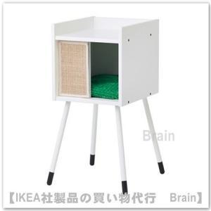 IKEA/イケア LURVIG キャットハウス 脚/クッション付き ホワイト/グリーン|shop-brain