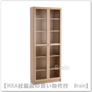 ■カラー:ホワイトステインオーク材突き板  ■商品の大きさ 幅: 80 cm 奥行き: 30 cm ...