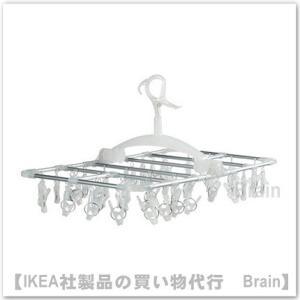 IKEA/イケア NORDBY  物干し用ハンガー 洗濯バサミ42個付き 透明