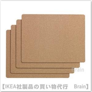 IKEA/イケア AVSKILD プレースマット コルク 4枚セット|shop-brain