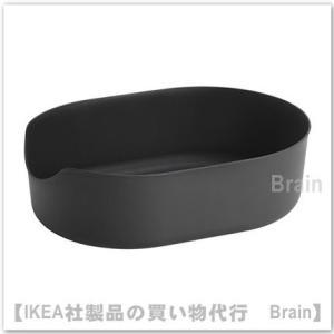IKEA/イケア LURVIG ペット用トイレ37x51 cm ブラック|shop-brain