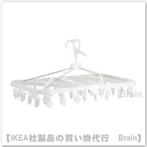 IKEA/イケア BYSA  物干し用ハンガー 洗濯バサミ38個付き 透明