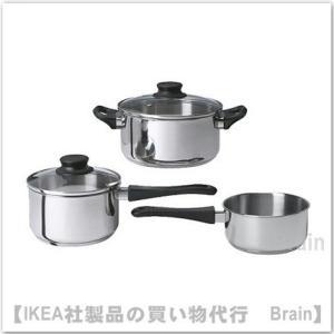 IKEA/イケア ANNONS 調理器具 5点セット ガラス/ステンレススチール