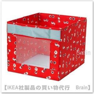 IKEA/イケア ANGELAGEN ボックス38x42x33 cm レッド
