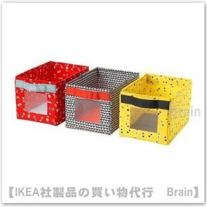 IKEA/イケア ANGELAGEN ボックス18x27x17 cm 3個セット マルチカラー