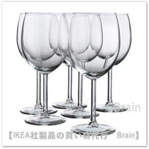 IKEA/イケア SVALKA 赤ワイングラス18 cm 6個セット|shop-brain