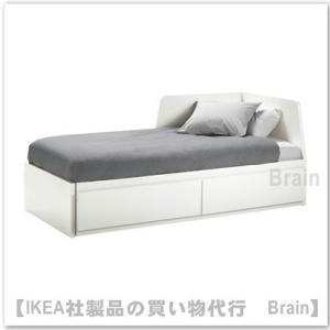 IKEA/イケア FLEKKE デイベッドフレームすのこ付き ホワイト|shop-brain