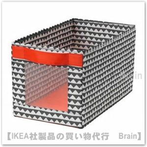 IKEA/イケア ANGELAGEN ボックス25x44x25 cm ブラック/ホワイト