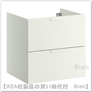 IKEA/イケア GODMORGON 洗面キャビネット引き出し×2 60×47×58cm ホワイト|shop-brain