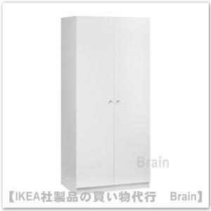 IKEA/イケア BOSTRAK ワードローブ ホワイト|shop-brain