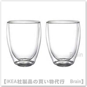 IKEA/イケア PASSERAD ダブルウォールグラス12 cm 2個セット|shop-brain