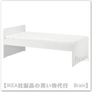 ■カラー:ホワイト  ■商品の大きさ 長さ: 207 cm 幅: 98 cm フットボードの高さ: ...