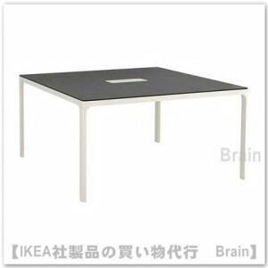 ■カラー:ブラックステインアッシュ材突き板/ホワイト  ■商品の大きさ 長さ: 140 cm 幅: ...