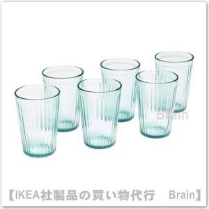 IKEA/イケア KALLNA グラス11 cm 6個セット グリーン|shop-brain
