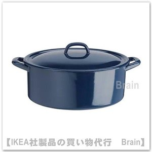 IKEA/イケア VARDAGEN 鍋 ふた付き5 L ブルー