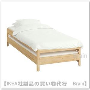 ■カラー:パイン材  ■商品の大きさ 高さ、ベッド2台: 46 cm 長さ: 205 cm 幅: 8...